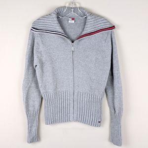 Tommy Hilfiger | Gray Knit Stripe Cardigan